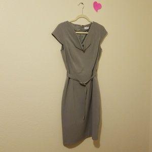 Calvin Klein size 8 gray dress
